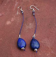 Een persoonlijke favoriet uit mijn Etsy shop https://www.etsy.com/nl/listing/473878345/lapis-lazuli-dangles-with-sterling