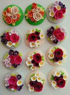 Andra Ciornei on fb Polymer Clay Flowers, Polymer Clay Charms, Polymer Clay Art, Polymer Clay Earrings, Polymer Clay Projects, Diy Clay, Clay Crafts, Diy And Crafts, Clay Wall Art