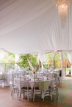 Gorgeous tent for outdoor wedding