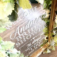 """Write It Out Loud on Instagram: """"What a beautiful day for a bridal shower! 76 days until """"I Do"""" Have a great day Andrea!"""" Wedding Mirror, What A Beautiful Day, Bridal Shower Signs, Out Loud, Have A Great Day, Mirrors, Writing, Instagram, Being A Writer"""