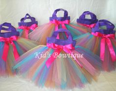 12 Princess Party Favor Tutu Bags Add to your by kidsbowtique