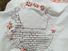 iseng-iseng manfaatkan kemeja bekas seragam anakku #menyulam #embroidery