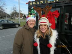 Laura and Mala, St. Michaels Christmas Parade 2011.