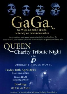 Are you a Queen fan? Hurry and book now, tickets selling fast! Call us on 01237 472361 or pop in!