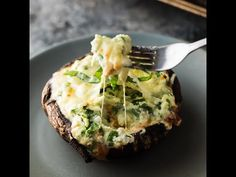 Lasagna stuffed portobello mushrooms- get a taste of lasagna with a fraction of the calories! This recipe can be prepped ahead and frozen.