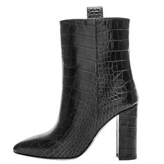 High Ankle Boots, Ankle Heels, Pointed Toe Heels, High Heels, For Your Legs, Green Shoes, Short Boots, Toe Shape, Crocodile