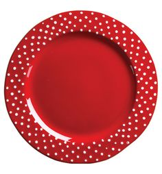Rosso Vecchio Dot Dinnerware by Vietri Red Dinnerware, Casual Dinnerware, Christmas Dinnerware, Red Dots, Polka Dots, My Favorite Color, My Favorite Things, Red Plates, Red Kitchen