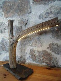 Imagini pentru bois flotté #LampBasteln #LampBois