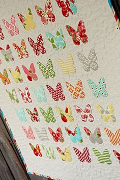 Frivolous Necessity's adorable butterfly specimen quilt applique in Marmalade. So simple and sweet..