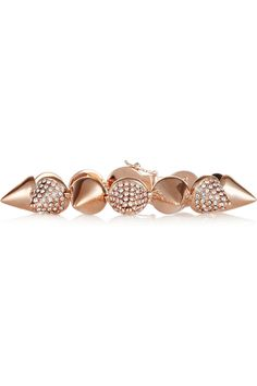 Eddie Borgo | Rose gold-plated crystal cone bracelet
