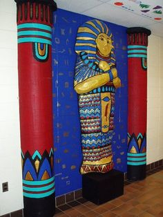 Egyptian mummy's coffin display