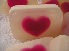 DIY Melt and Pour Valentine Heart Soaps Project
