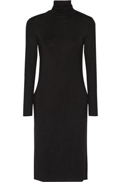 James Perse - Stretch-jersey Turtleneck Dress - Black - 4