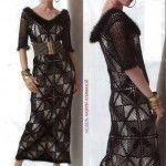 Squares Crochet Lace Dress