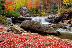 The Glade Creek Grist Mill at Babcock State Park - Enjoy these photos of the colorful fall season in the picturesque Southeast as you plan your next autumn trip or reflect on a memorable past visit.