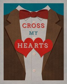 "Doctor Who print - the Eleventh Doctor - ""Cross My Hearts"" by thejoyfulfox"