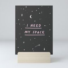 I Need My Space Mini Art Print Fire Quotes, Canvas Art, Canvas Prints, Coffee Girl, Girls With Glasses, Wood Wall Art, Unique Art, Framed Art Prints, Wall Murals
