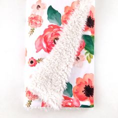 Baby Blanket Floral Dreams. The Cloud Blanket. Lovey. Faux Fur Baby Blanket. Minky Baby Blanket. Floral Baby Blanket. Coral Baby Blanket. by Iviebaby on Etsy https://www.etsy.com/listing/267662431/baby-blanket-floral-dreams-the-cloud
