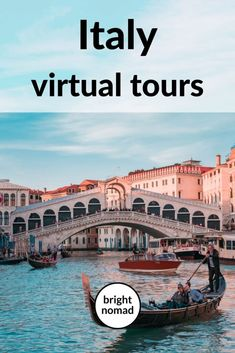 Virtual tours in Italy - Beautiful armchair travel ideas Backpacking Europe, Europe Destinations, Honeymoon Destinations, Italy Travel Tips, Travel Europe, Travel Packing, European Travel, Packing Lists, Travel Backpack