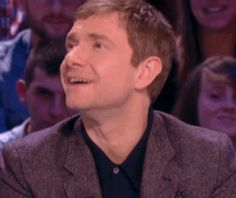 French interviewer asked martin do that thing he does with his face. :D (It's almost like Samantha from Bewitched had a son!)