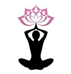 Silhouette yoga and lotus vector
