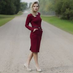 Red Barbara Dress Fall 2015, My Mom, Boutique, Clothes For Women, My Style, Red, Collection, Dresses, Fashion
