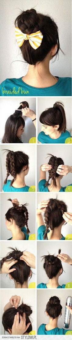 another way to do hair bun