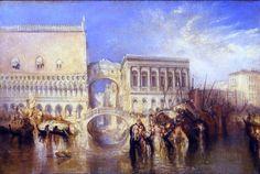 Venice, the Bridge of Sighs (Joseph Mallord William Turner - )