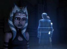 Ahsoka, Aayla, Bly, and Anakin
