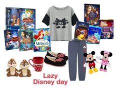 """""""Every thing you need for a lazy Disney day"""" by ellie-may346 ❤ liked on Polyvore featuring Uniqlo, UGG Australia and Disney"""