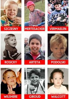 Arsenal Players When They Were Children.