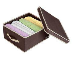Caixa Organizadora com tampa - Marrom - Armários e Closets | Ordenato!