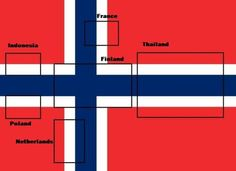 7 - in - 1 flag. The Norwegian flag.
