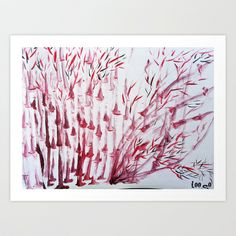 dancing bamboos  Art Print by Loosso - $20.80