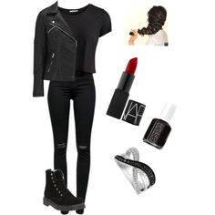 Shadow hunter outfit by camryn-5 on Polyvore featuring polyvore, fashion, style, Pieces, ONLY, J Brand, T.U.K., LeVian and Essie