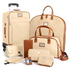 Joy Mangano St. Barts Canvas Chic Collection 10-piece Luggage Set at HSN.com