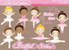 Ballet Clipart Cute girl sport clip art by CeliaLauDesigns on Etsy, $5.00