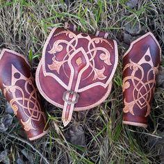 Fantasy Leather LARP Medieval Handmade Purse belt bag by CosplayFX