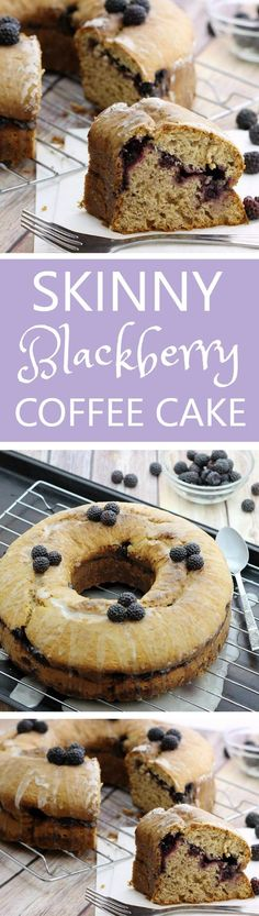 This skinny blackberry coffee cake is a makeover of a Betty Crocker recipe. Sweet, moist and delicious, with a big chunk of the fat and calories GONE. Easy to make, hard to resist. Dairy-free/vegan options.