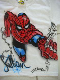 Amazing Spiderman airbrush t-shirt