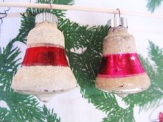 Vintage 1940s Corning Shiny Brite Red Bell by AuntSuesVintage, $9.99