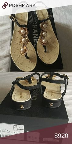 Chanel sandals Chanel sandals very good condition looks brand new worn twice CHANEL Shoes