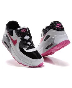 sports shoes d2d86 37500 Nike Air Max 90 Womens Black White Red Trainer Air Max 90, Nike Sneakers,