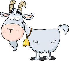 cartoon goat - iris