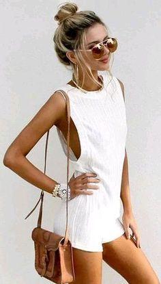white romper summer style