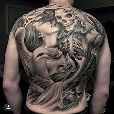 Forbidden love affair with Grim Reaper Tattoo