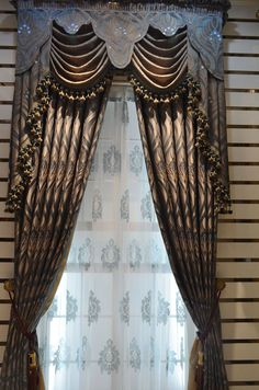 Quality three-dimensional jacquard curtain luxury fashion dodechedron the finished curtain $47.07