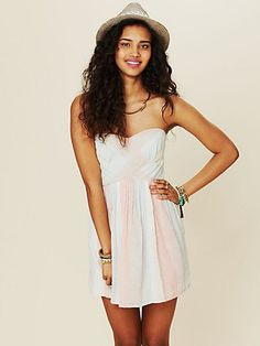 Free People Women's Contemporary Cotton Slub Striped Burlap Dress #VonMaur