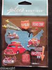 Jolee's Boutique Embellishments Stickers EK Success ROAD TRIP