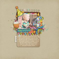 Sweet 4th b'day layout!